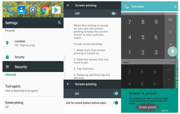 How to Start Pin apps in Android Lollipop