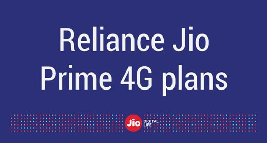 Reliance Jio Prime 4G plans (Limited or Unlimited Data Limit)