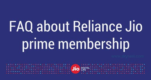 FAQ about Jio prime membership