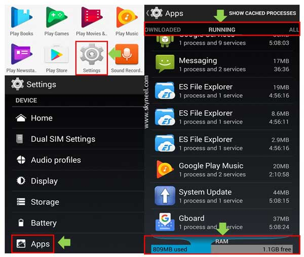 How to view free RAM on Android phone