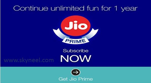 How to get jio prime subscription till 31 March 2018