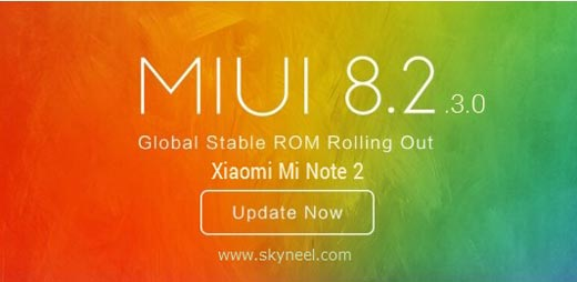 How to update Xiaomi Mi Note 2 MIUI 8.2.3.0 Stable Rom