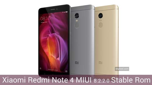 New Xiaomi Redmi Note 4 MIUI 8 2 2 0 Global Stable Rom