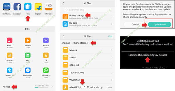 Oppo F1s Marshmallow Stock Rom flashing process