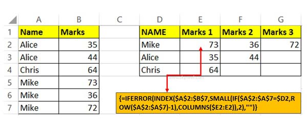 How to Return Multiple Items with VLookup in Excel