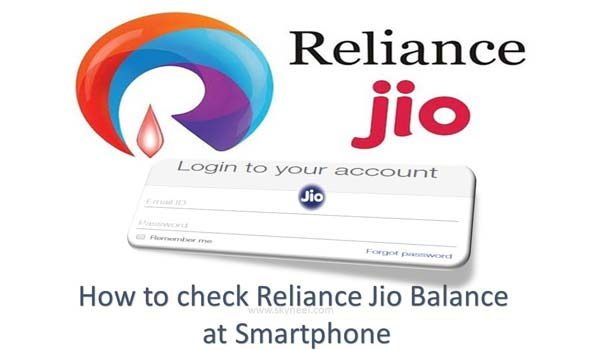 How to check Reliance Jio Balance at Smartphone