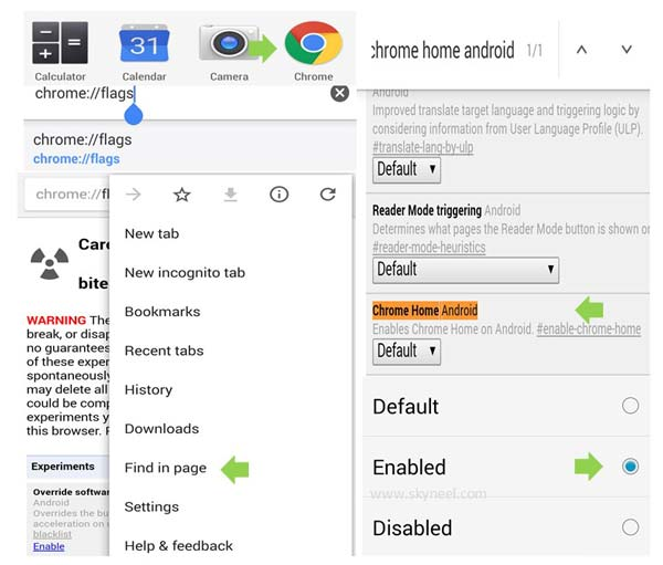 How to move chrome browser address bar at the bottom of your Android phone screen