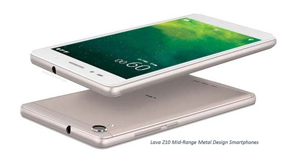Lava launches Lava Z10 Mid-Range Metal Design Smartphones, 4G VoLTE at Rs. 11,500