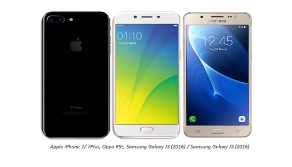 World's top 5 highest-selling Smartphones in Quarter First 2017