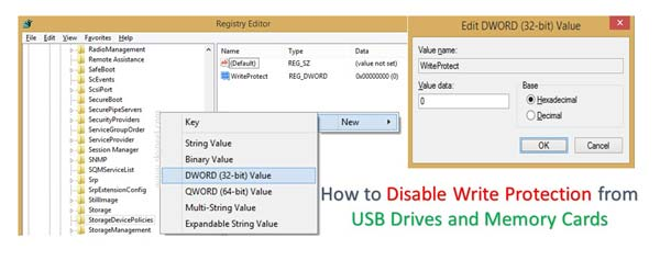 How to Disable Write Protection from USB Drives and Memory Cards