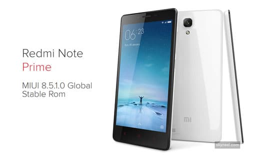 New Xiaomi Redmi Note Prime MIUI 8 5 1 0 Global Stable Rom
