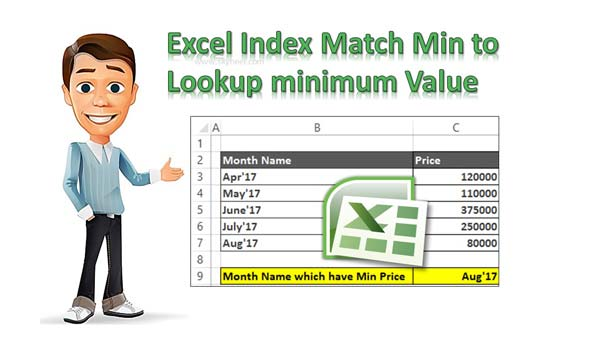 Excel Index Match Min to Lookup minimum Value