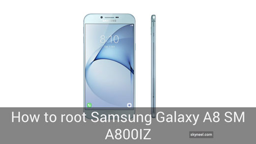 How to root Samsung Galaxy A8 SM A800IZ