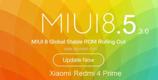 Redmi 4 Prime MIUI 8.5.3.0 Global stable Rom