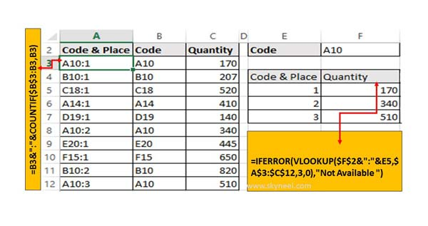 Excel VLookup Find First, 2nd Or Nth Match Value