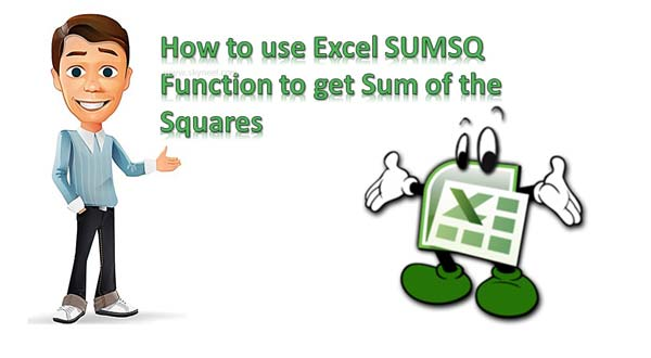 How to use Excel SUMSQ Function