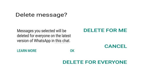 How to Delete WhatsApp Message