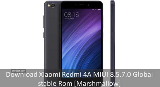Download Xiaomi Redmi 4A MIUI 8 5 7 0 Global stable Rom [Marshmallow]