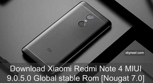 Xiaomi Redmi Note 4 MIUI 9 0 5 0 Global stable Rom [Nougat 7 0]