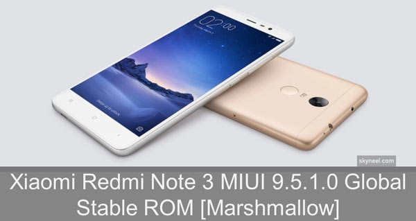 Redmi Note 3 MIUI 9.5.1.0 Global