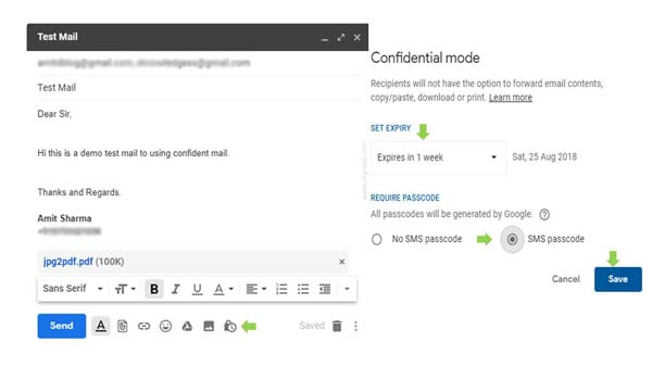 How to Send or Open new Confidential emails by Gmail
