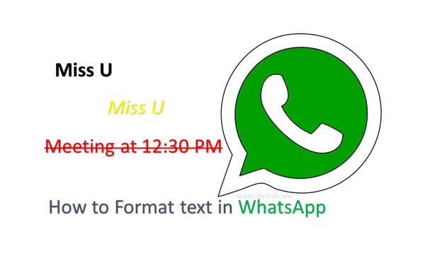 How to Format text in WhatsApp