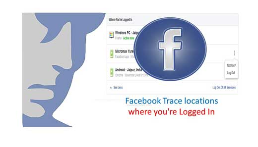 Facebook Trace locations where you're Logged In