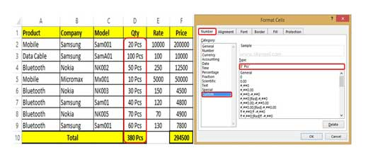 How to Add suffix in range of cells in MS Excel