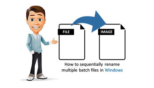 How to sequentially rename multiple batch files in Windows