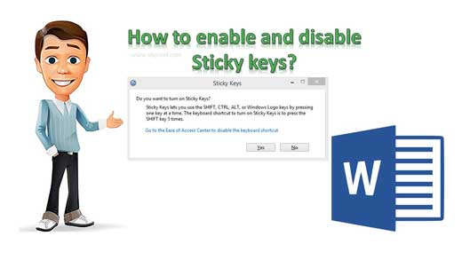 How to enable and disable Sticky keys