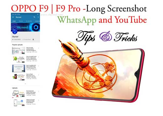 How to take long screenshot at WhatsApp and YouTube on Oppo F9 Pro