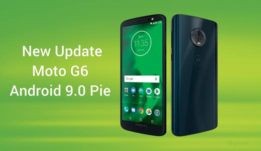 New Moto G6 Pie update Android 9.0