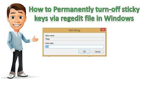 Permanently turn-off sticky keys via regedit file in Windows O.S.