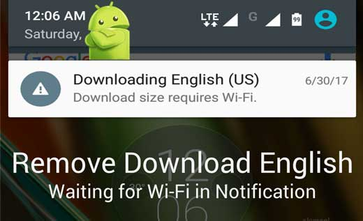 Remove Download English Waiting for Wi-Fi Notification