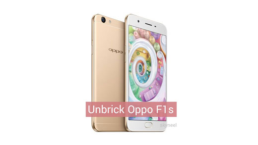 Unbrick Oppo F1s A1601 (Back to Indian Stock Rom)