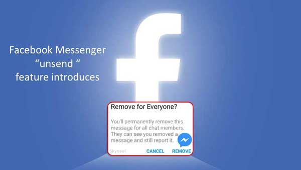 Facebook Messenger unsend feature