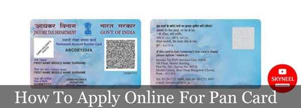 How To Apply Online For Pan Card