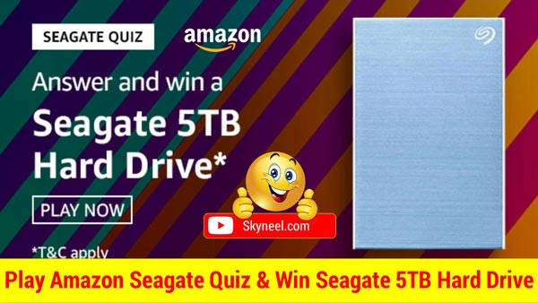 Amazon Seagate Quiz Answer - Win Seagate 5TB Hard Drive