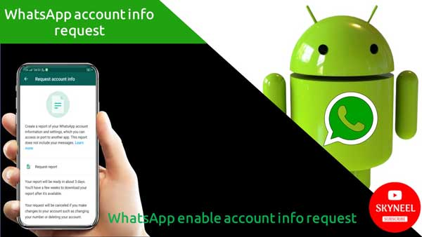WhatsApp account info request
