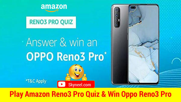 Amazon Oppo Reno3 Pro Quiz Answers