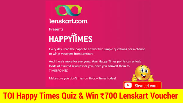 TOI Happy Times Quiz