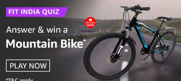 Amazon Fit India Quiz Answers – Win a Mountain Bike
