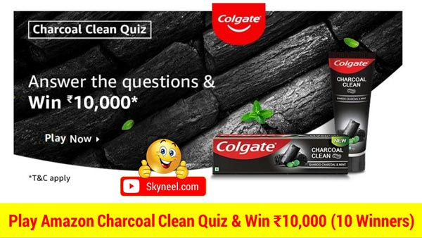 Play Amazon Charcoal Clean Quiz & Win ₹10,000 (10 Winners)