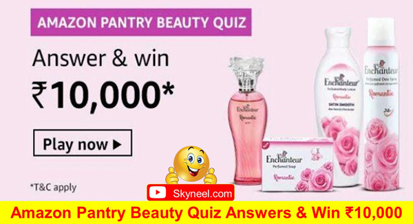 Amazon Pantry Beauty Quiz Answers
