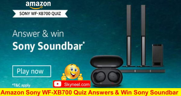 Amazon Sony WF-XB700 Quiz Answers