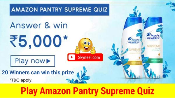 Amazon Pantry Supreme Quiz Answers – Win ₹5,000 ( 20 Winners)