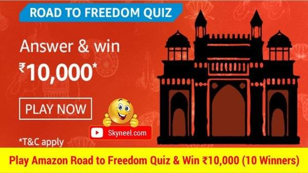 Amazon Road to freedom Quiz Answers