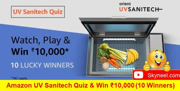Amazon UV Sanitech Quiz Answers