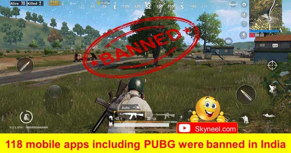 118 mobile apps including PUBG were banned in India
