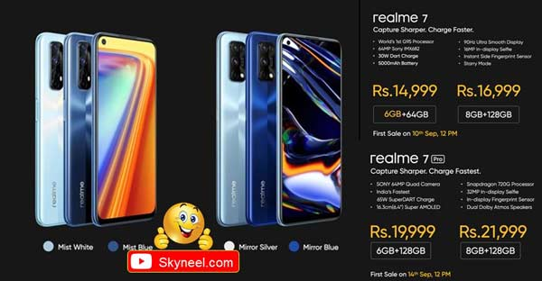 Realme 7 and Realme 7 Pro launched in India